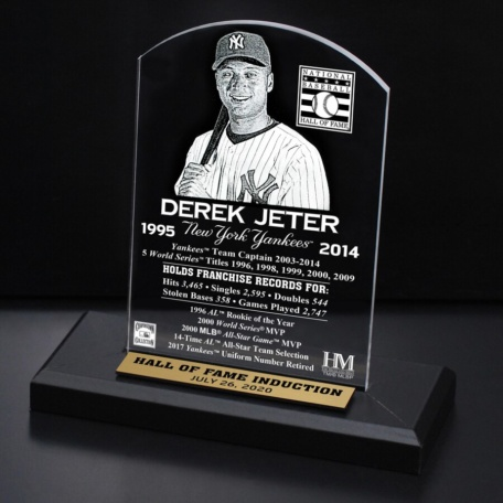 Derek Jeter New York Yankees 2020 Hall of Fame Induction Etched Plaque