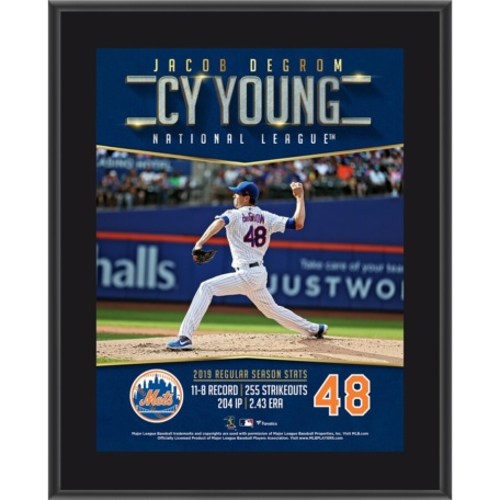 New York Mets Jacob deGrom 2019 NL Cy Young Plaque