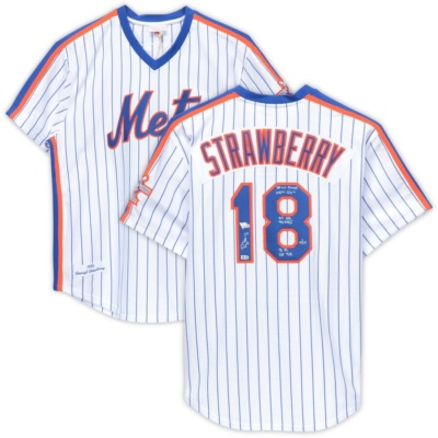 Darryl Strawberry New York Mets Autographed Jersey