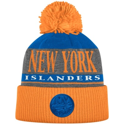 New York Islanders adidas Cuffed Knit Hat with Pom -