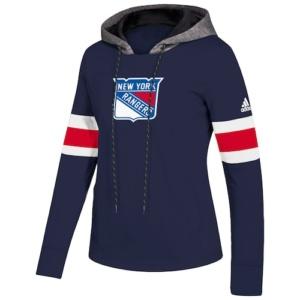 Women's adidas Blue New York Rangers Crewdie Pullover Hoodie