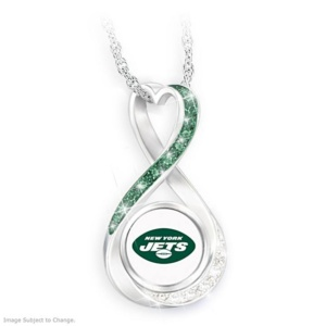 "'New York Jets Forever' Infinity Pendant Necklace Item no:128808019 Save ""New York Jets Forever"" Infinity Pendant Necklace"