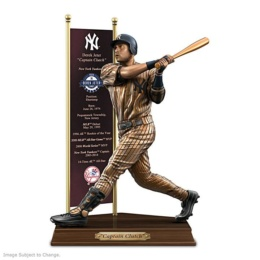 Derek Jeter Cold-Cast Bronze Tribute Sculpture