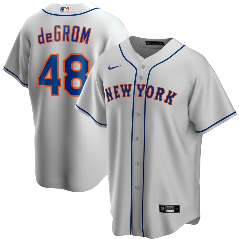 Jacob deGrom New York Mets Nike Road 2020 Replica Player Jersey