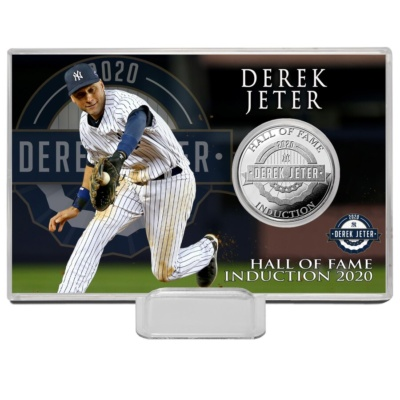 Highland Mint Derek Jeter New York Yankees 2020 Hall of Fame Induction 4'' x 6'' Silver Coin Card