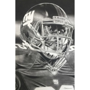 Deacon Jones Foundation New York Giants Helmet Series Fine Art Giclée