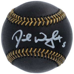 New York Mets David Wright Black Leather Baseball