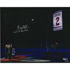 Brian Leetch New York Ranger Jersey Retirement Banner Raising Photograph