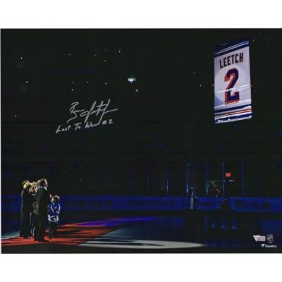 Brian Leetch New York Ranger Jersey Retirement Banner Raising Photograph