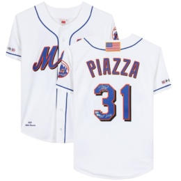 "Mike Piazza New York Mets 2016 Jersey with ""HOF 2016"" Inscription"