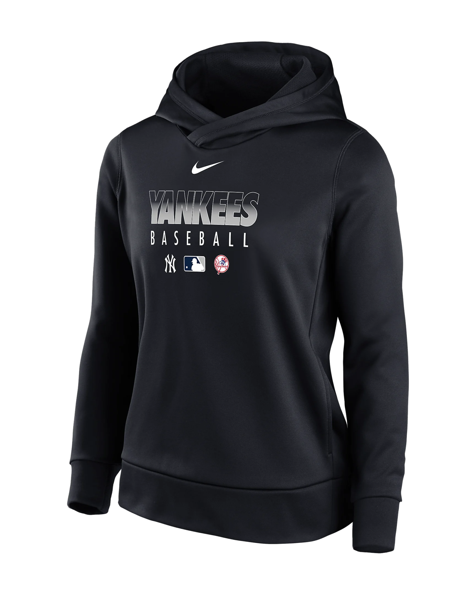 Women's Pullover Hoodie Nike Therma (MLB New York Yankees)
