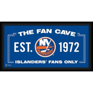 New York Islanders Framed Fan Cave Collage