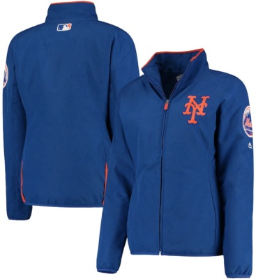 Women's New York Mets Majestic Royal On-Field Thermal Jacket