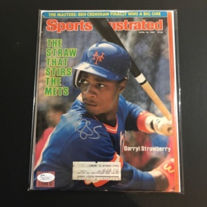 Darryl Strawberry Sports Illustrated Magazine NY Mets August 23 1984 JSA