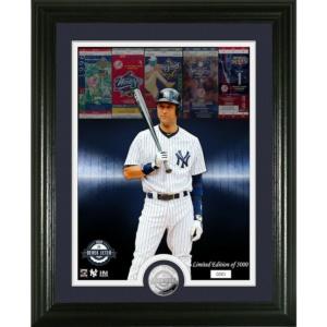 Derek Jeter Yankees HOF 2020 framed photo coin Highland Mint LE world series