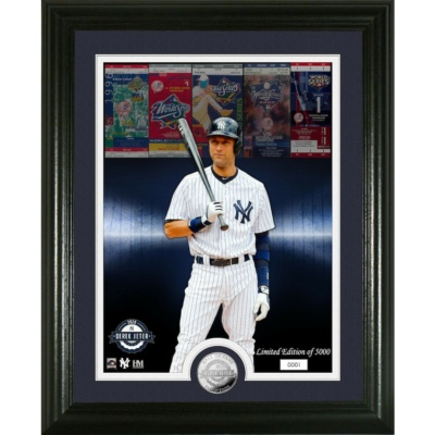 Derek Jeter Yankees HOF 2020 framed photo coin Highland Mint LE world series