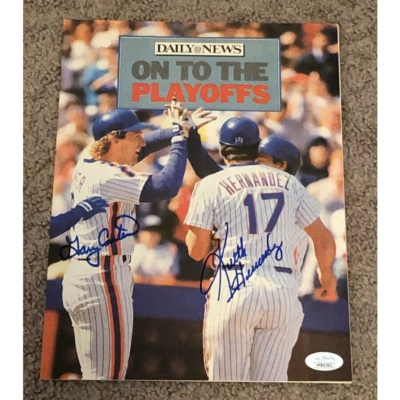 Gary Carter & Keith Hernandez Signed Autographed 1986 Daily News Magazine Jsa