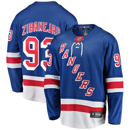Mika Zibanejad New York Rangers Breakaway Player Jersey