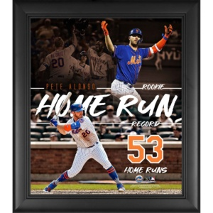 Pete Alonso New York Mets MLB Rookie Home Run Record Collage