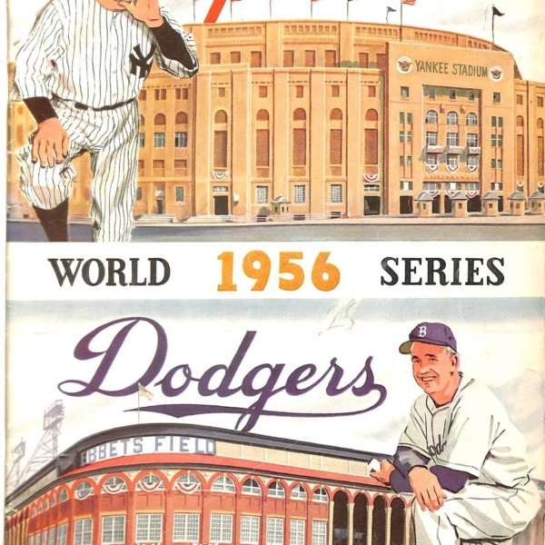 1956 World Series Official Program Unsigned-100% Authentic