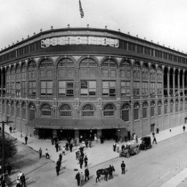 Ebbets Field, the intimate home of the Brooklyn Dodgers from 1913 to 1957.