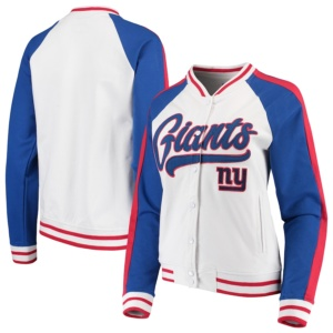 Women's New Era New York Giants Varsity Full Snap Jacket