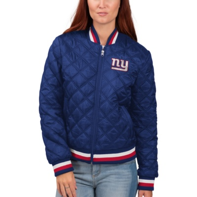 Women's New York Giants Quilted Bomber Jacket