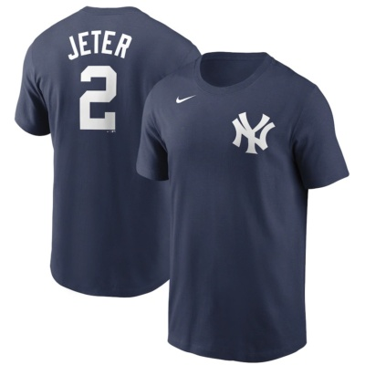 Derek Jeter New York Yankees Nike Name & Number T-Shirt