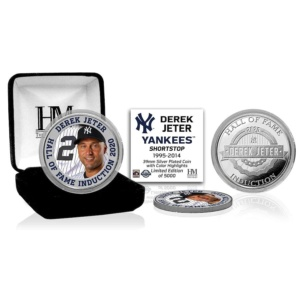 Derek Jeter 2020 Hall of Fame Silver Coin