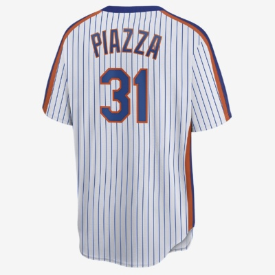 New York Mets (Mike Piazza)-Men's Cooperstown Baseball Jersey