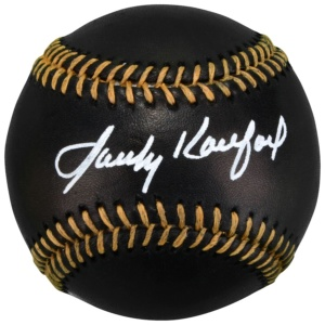 Sandy Koufax Autographed Black Leather Baseball