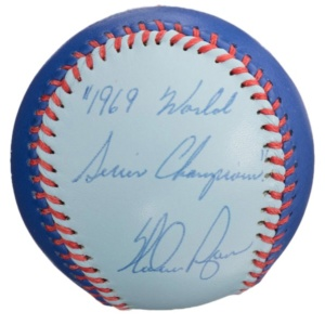 Nolan Ryan Signed & Inscribed Blue Baseball