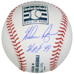 Au Nolan Ryan Fanatics Hall of Fame Logo Baseball