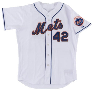 "2007 ""Jackie Robinson Day"" Willie Randolph Game Worn New York Mets Jersey…."