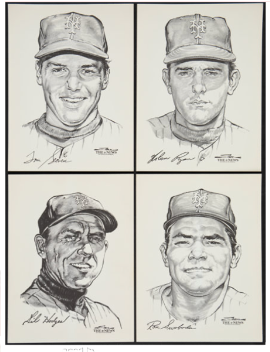 "1969 Stark/Daily News ""The 1969 New York Mets, A Portfolio of Stars"