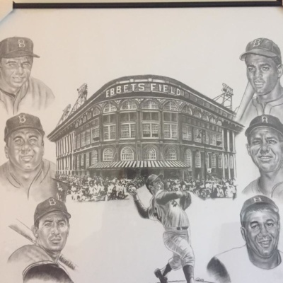 BROOKLYN DODGERS PRINT