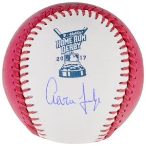 Aaron Judge Fanatics 2017 Pink Home Run Derby Baseball