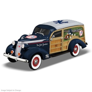 New York Yankees 1937 Woody Wagon Sculpture
