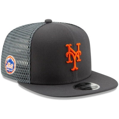 Mets New Era 9FIFTY Adjustable Snapback Hat - Graphite