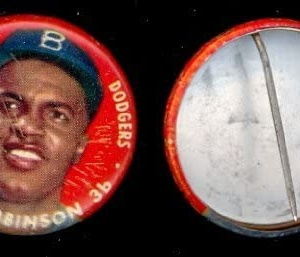 1956 Topps Pin- Jackie Robinson