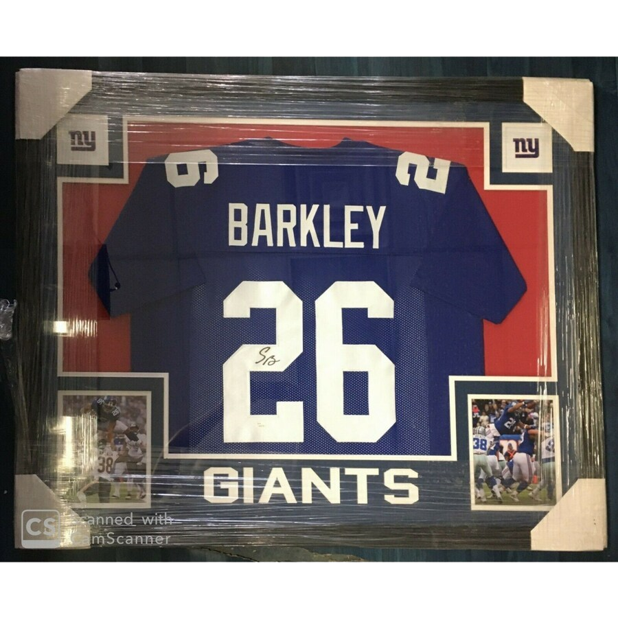 autographed giants barkley jersey