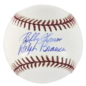 Bobby Thompson & Ralph Branca Signed Baseball