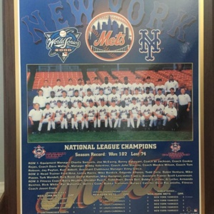 Mets 2000 National Championship Plaque