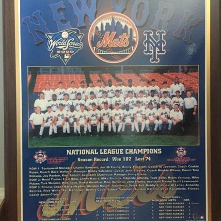Mets 2000 National Championship Plaque