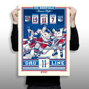 Vic Hadfield Number Retirement Serigraph