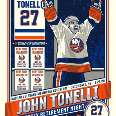 John Tonelli Number Retirement Serigraph