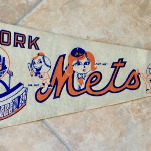 Vintage Late '60's New York Mets Shea Stadium Pennant