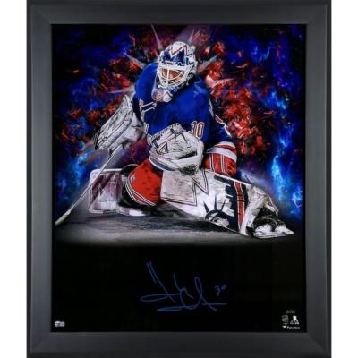 Henrik Lundqvist New York Rangers Framed Autographed Photograph -