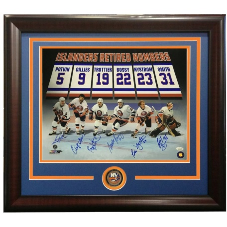 NY ISLANDERS RETIRED NUMBERS PHOTO