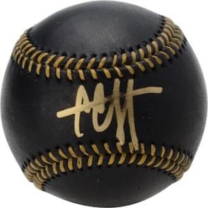 CC Sabathia Autographed Black Leather Baseball